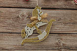 Новогодняя игрушка лошадка качалка, фото 2