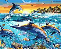 """Картина по номерам """"Подводные глубины"""" 40*50см"""