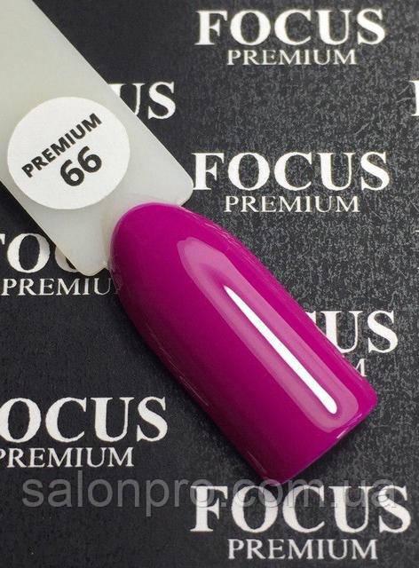 Гель-лак FOCUS premium №066 (насыщенная фуксия, эмаль), 8 мл