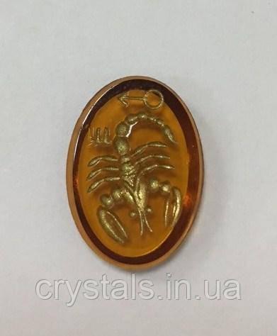Кабошоны Preciosa (Чехия) Скорпион 18х13 мм