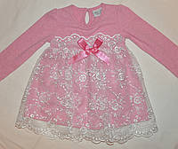 Платье для девочки, светло-персиковое