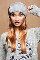Вязаная шапка Лара средне-серый