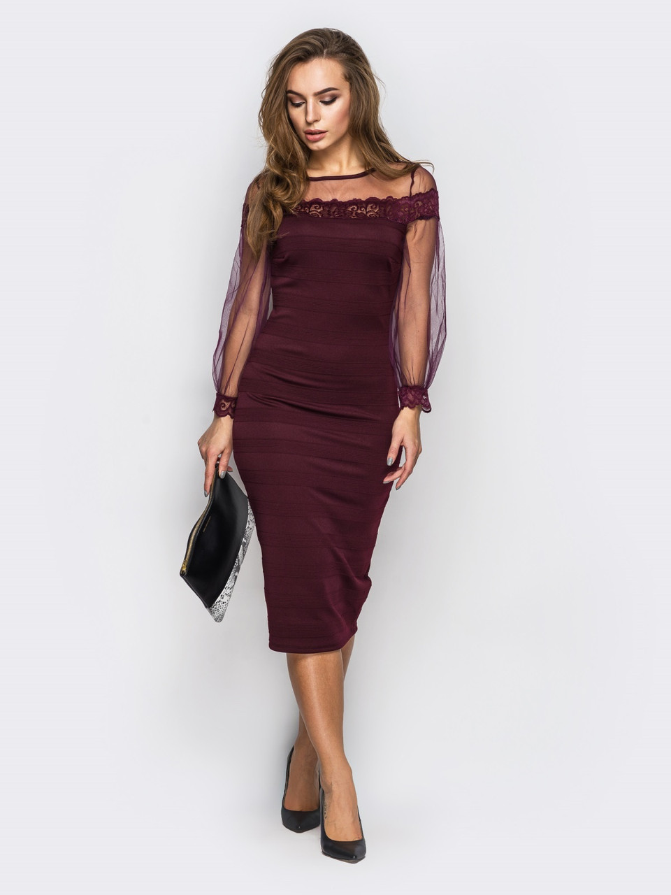 576ca7c0aa1 Изысканное женское нарядное платье с фатином р.44