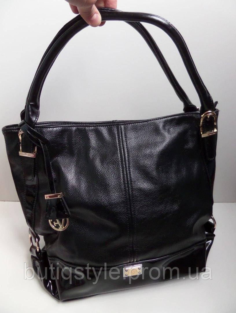 Модная женская сумка черная Velina Fabbiano