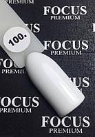 Гель-лак FOCUS premium №100 (белый, эмаль), 8 мл