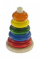 Пирамидка nic деревянная Классическая разноцветная