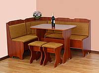 """Кухонный уголок """"Ната"""" 163х123 см. Мягкий уголок+Стол+2 табуретки, Ткань и цвет на выбор"""