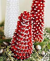 Глянцевые Декоративные Бусы Гирлянды Шарики для Декора Елки 5 м Атмосфера Нового Года Рождества