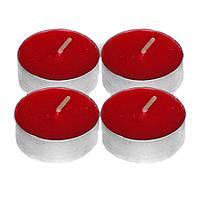 Аккуратные красные  свечи  50 шт. (18х18х2 см)