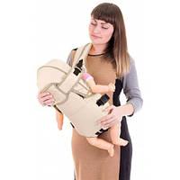 Рюкзак-кенгуру Womar № 8 с капюшоном бежевый