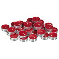 Свечи чайные красные набор 50 шт. (18х18х2 см)
