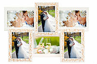 Свадебная фоторамка ампир на 6 фото