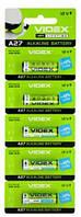 Батарейка A27, Videx Excellent щелочная, 12V, Blister (А27 BLISTER CARD)