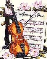 """Картина по номерам """"Мелодия для скрипки"""" 40*50см"""