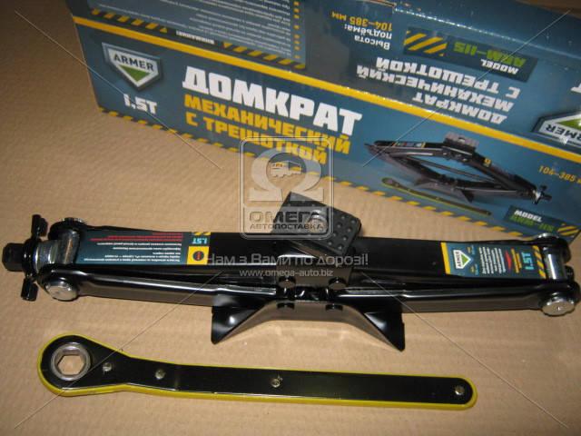 Домкрат механический 1,5т. 104/385мм. трещетка c резинкой  (арт. ARM-115), ABHZX