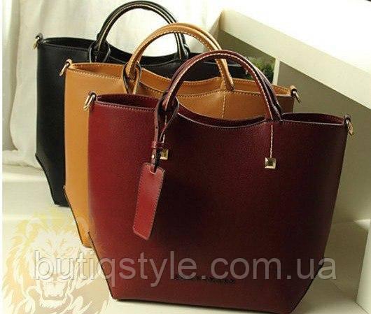 Стильная женская вместительная сумка