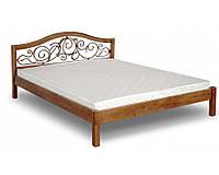 Кровать деревянная с ковкой Италия ЧДК 140×200