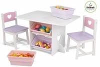 Детский столик с двумя стульчиками KidKraft Star Table & Chair Set