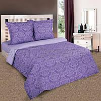Ткань для постельного белья, поплин (хлопок) Византия фиолетовая компаньон (однотонный сиреневый)