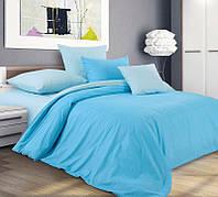 Ткань для постельного белья, перкаль (хлопок) Арктический пунш, компаньон - ткань светло-голубая