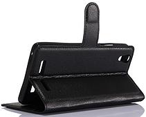 Кожаный чехол-книжка  для Lenovo lemon k10 k10e70 черный, фото 3