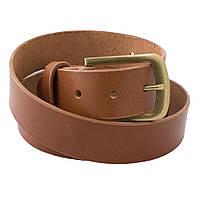 Ремень Bow Tie House коричневый c Итальянской кожи - пряжка Антик 09826