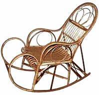 Кресло качалка лозовое плетенное Барин № 7