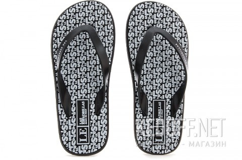 F6574-2713 Las Espadrillas Тапочки Las Espadrillas F6574-2713 унисекс чрныйбелый - Интернет магазин обуви Kedoff.net в Киеве