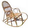 Кресло качалка лозовое плетенное Ажур № 11