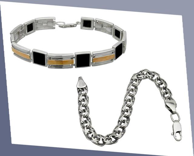 Серебряные браслеты и цепочки