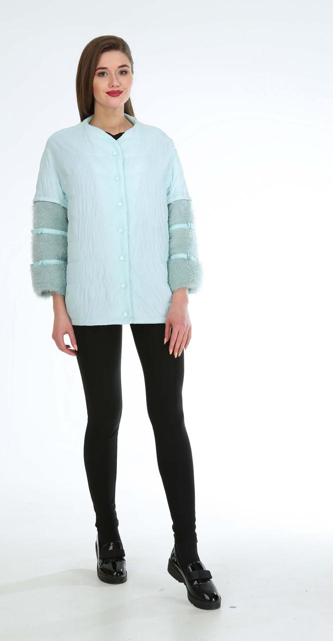 Куртка Диамант-1149 белорусский трикотаж, светло-бирюзовый, 46