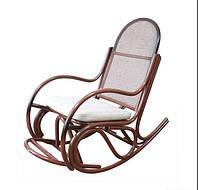 Кресло-качалка из ротанга Бриз-1 с подножкой и подушкой медовый, фото 1