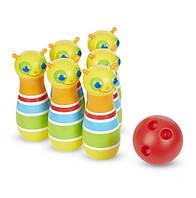 """Детский боулинг """"Стрекоза"""" NEW для детей от 2 лет / Giddy Buggy Bowling Set (6 кеглей и мячик) ТМ Melissa & Doug MD16685"""