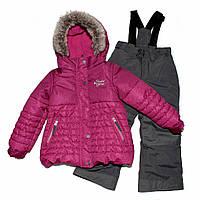 Зимний термокостюм для девочки 3-8 лет (куртка и полукомбинезон), р. 98-134 ТМ Peluche&Tartine Framboise F17 M 50 EF