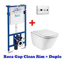 Унитаз+Инсталляция Roca Pro 8900900+Roca Gap Clean Rim 34647L000