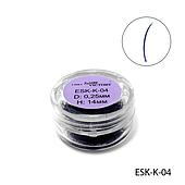 Вії поштучно ledy victory темно сині ESK-K-04 (діаметр: 0,25 мм, довжина: 14 мм)