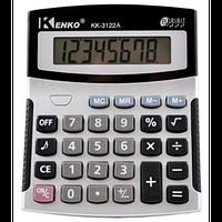 Простой офисный калькулятор kenko kk-3122a, настольный, 8 разрядов, со звуками, 1 регистр памяти, питание ааа