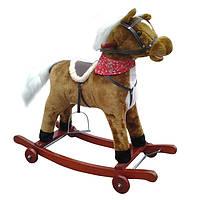Детская качалка лошадка M 0232 U/R, шевелит хвостом,звук цоканья