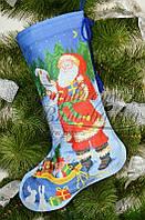 """Пошитий новорічний чобіток для вишивання """"Ніч чудес"""" 31х49 см"""