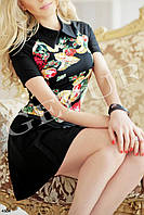 Платье А-силуэта цветочное