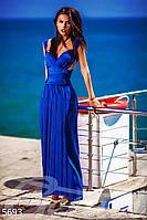 Шикарное платье-трансформер цвета синий электрик