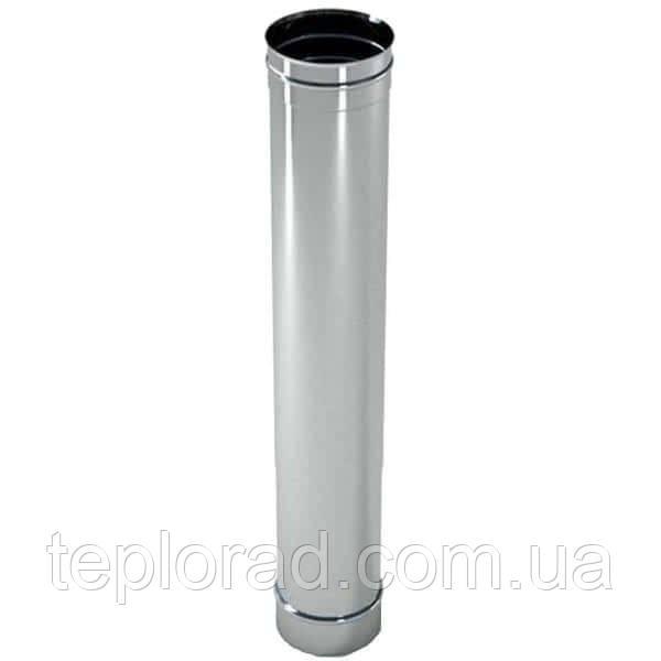 Труба дымоходная L=0.3м нерж. Ø110 0.8 мм