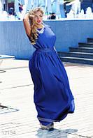 Платье большого размера синего цвета