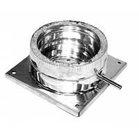 Подставка дымоходная напольная нерж 100/160 0.6 мм