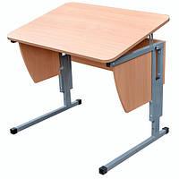 Детская парта растишка стол трансформер Pondi / Понди Школьник Мини из ДСП