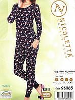Пижама женская новогодняя Снеговик в кармашке