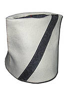 Шапка для сауны ПАПАХА светло-серый войлок, 100% шерсть