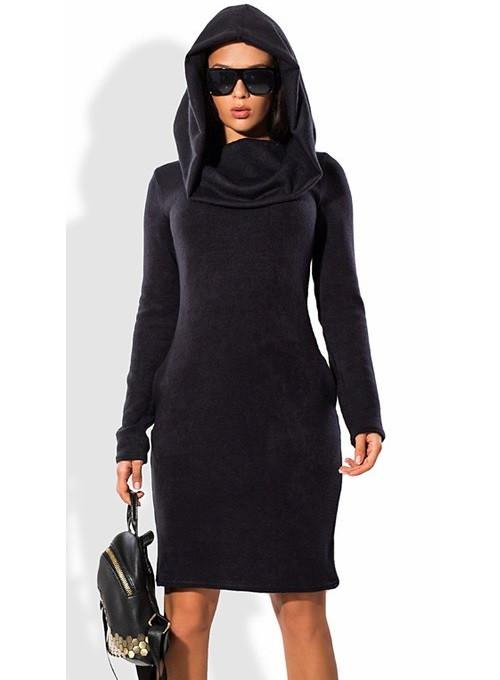 Облегающее платье из вязаного трикотажа ангоры