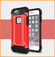 Бронированный противоударный TPU+PC чехол IMMORTAL для IPhone 5 / 5s / SE Red