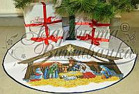 """Пошита спідничка під ялинку для вишивання """"Різдвяний вечір"""", діаметр 100 см"""